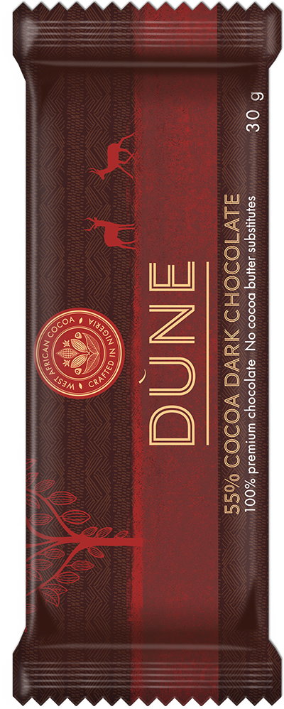 55% Cocoa Dark Chocolate 30 Gram Bar