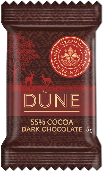 55% Cocoa Dark Chocolate 5 Gram Bar